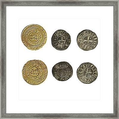 Crusader Kingdom Of Jerusalem Coins Framed Print