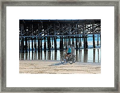 Crusin The Beach Framed Print by Tammy Espino