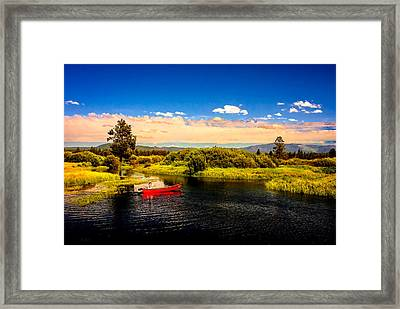 Cruising Down The River On A Sunday Afternoon Framed Print by Bob and Nadine Johnston