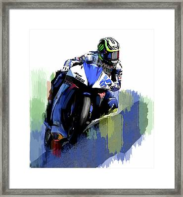 Crutch Cal Crutchlow Framed Print by Iconic Images Art Gallery David Pucciarelli