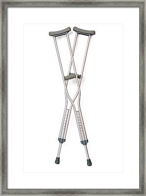 Crutches Framed Print