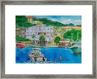 Cruz Bay St. Johns Virgin Islands Framed Print