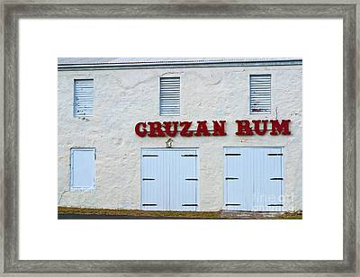 Cruzan Rum Building Framed Print
