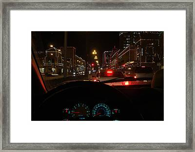 Framed Print featuring the photograph Cruzin The Plaza by Thomas Bomstad