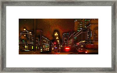 Framed Print featuring the photograph Cruzin View Of The Plaza by Thomas Bomstad