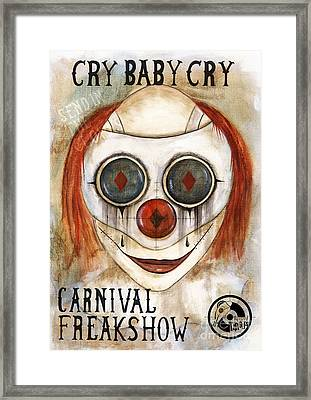 Cry Baby Cry Framed Print