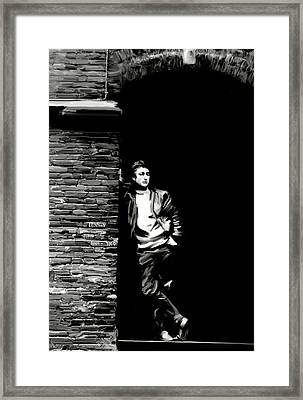Cry For A Shadow John Lennon Framed Print by Iconic Images Art Gallery David Pucciarelli