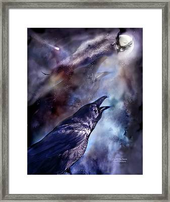 Cry Of The Raven Framed Print by Carol Cavalaris