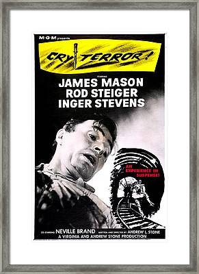 Cry Terror, Us Poster, James Mason, 1958 Framed Print