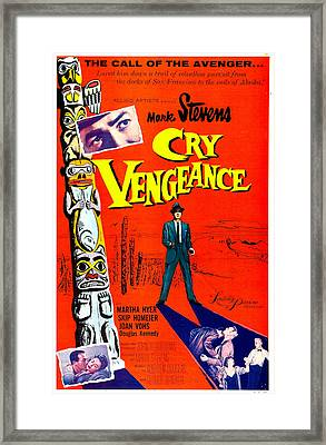 Cry Vengeance, Us Poster,  Mark Stevens Framed Print