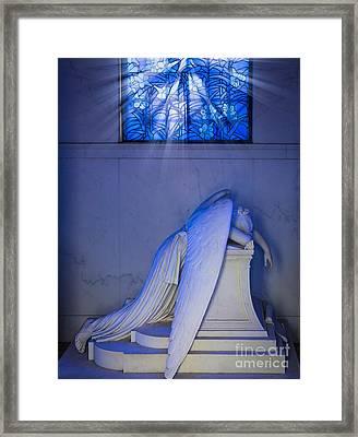 Crying Angel Framed Print by Inge Johnsson
