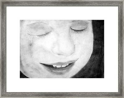 Crying Baby Framed Print by Dianovich Diana