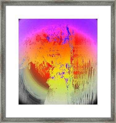 Think Of A Crying Eye Or Think Of Something Else But It Has To Be Sad  Framed Print by Hilde Widerberg
