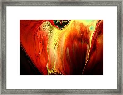 Crying For Love Modern Abstract Art By Kredart Framed Print