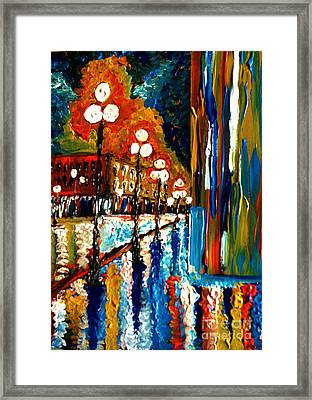 Framed Print featuring the painting Crying In The Rain by Brigitte Emme