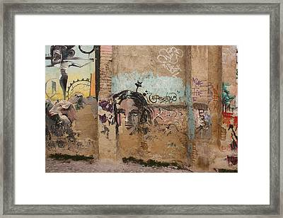 Crying Framed Print by Jan Katuin
