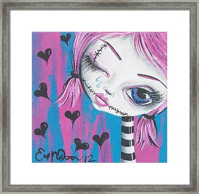 Crying Zombie Framed Print