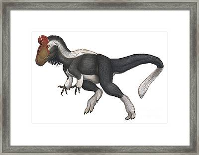 Cryolophosaurus, A Large Theropod That Framed Print by H. Kyoht Luterman