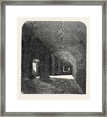 Crypt Discovered Under The Deanery House Framed Print by English School