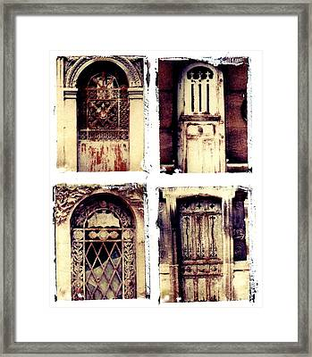 Crypt Doors Framed Print by Jane Linders
