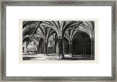 Crypt Of The Guildhall London Uk Framed Print by English School