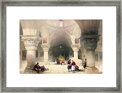 Crypt Of The Holy Sepulchre Framed Print by David Roberts