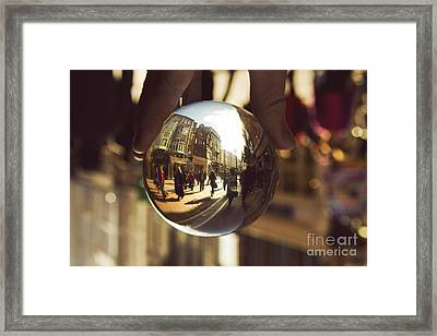 Crystal Ball On Grafton Street Dublin Framed Print by Catherine MacBride