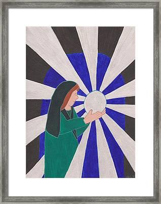 Crystal Ball Reader Framed Print by Barbara St Jean