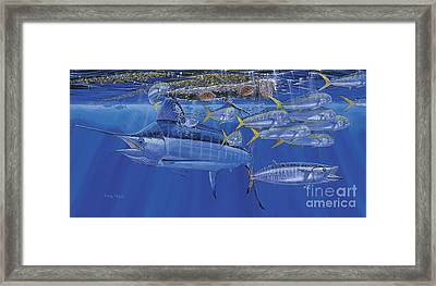 Crystal Blue Off00100 Framed Print by Carey Chen