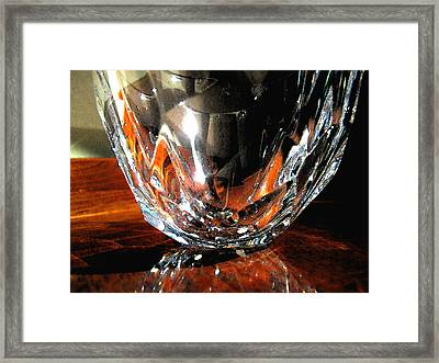 Framed Print featuring the photograph Crystal Bowl With Watercolor Filter by Mary Bedy