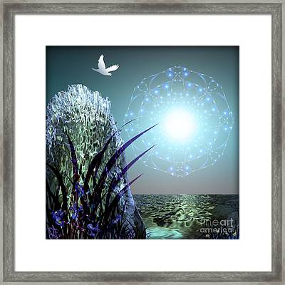 Crystal Breathing Rock Framed Print