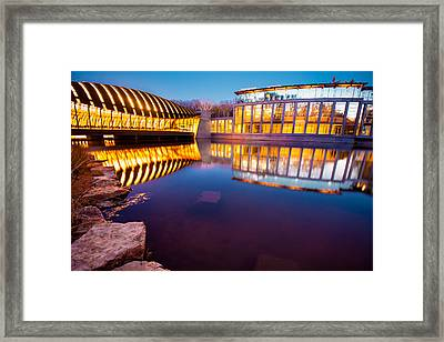 Crystal Bridges Art Museum Reflections Framed Print by Gregory Ballos