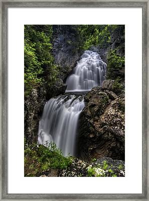 Crystal Cascade In Pinkham Notch Framed Print