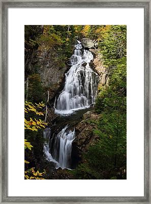Crystal Cascade Framed Print by Mike Farslow