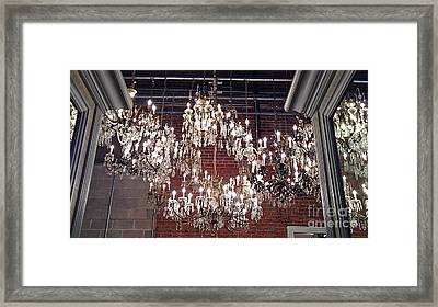 Crystal Chandeliers Framed Print by M West