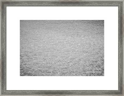 Crystal Clear Atlantic Ocean 2 Key West - Black And White Framed Print