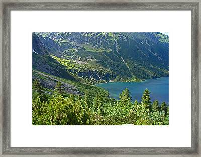Crystal Clear Lake In The South Of Poland Framed Print