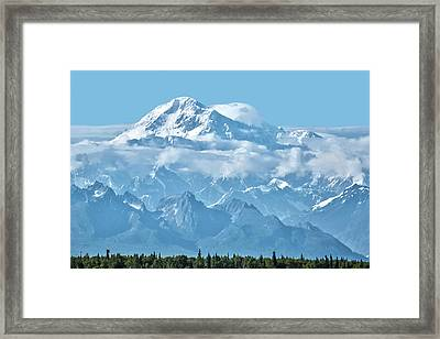 Crystal Clear Mt. Mckinley Framed Print