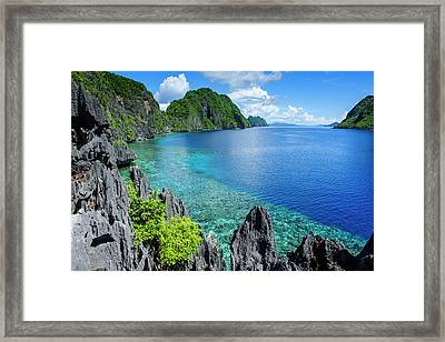 Crystal Clear Water In The Bacuit Framed Print