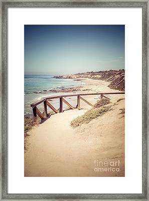 Crystal Cove Overlook Picture Framed Print by Paul Velgos