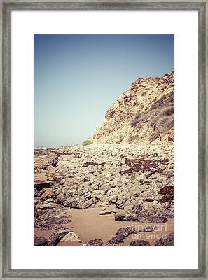 Crystal Cove State Park Cliff Picture Framed Print by Paul Velgos
