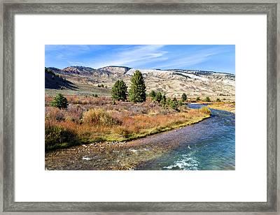 Crystal Creek In The Gros Ventre Framed Print