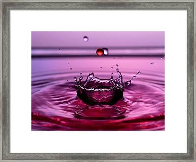 Crystal Crown Water Droplets Collision Liquid Art 4 Framed Print by Paul Ge