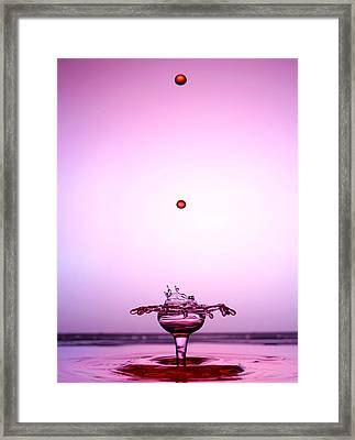 Crystal Cup Water Droplets Collision Liquid Art 2 Framed Print by Paul Ge