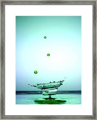 Crystal Cup Water Droplets Collision Liquid Art 4 Framed Print by Paul Ge