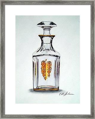 Crystal Decanter Framed Print by Cathy Jourdan