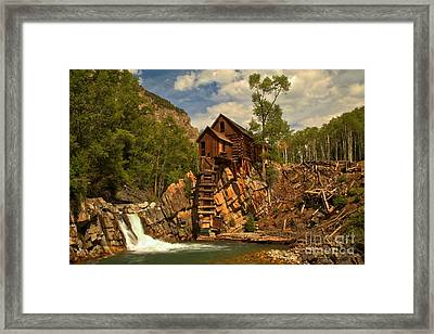 Crystal Falls Below The Mill Framed Print by Adam Jewell
