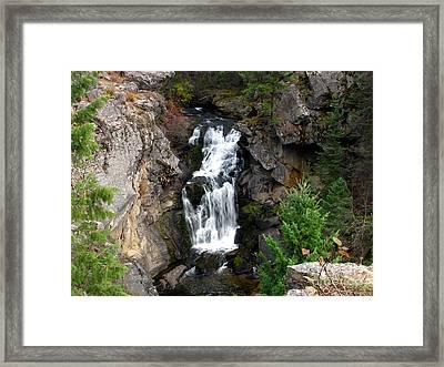 Crystal Falls Framed Print by Greg Patzer