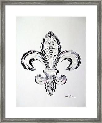 Crystal Fleur De Lis Framed Print