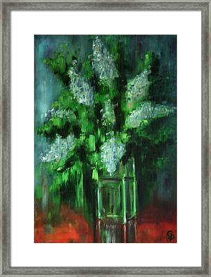 Crystal Flowers Framed Print by George Dadiani